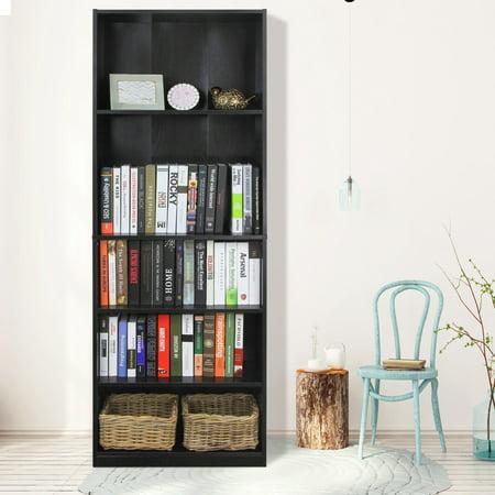 Furinno JAYA Simply Home 5-Shelf Bookcase, Blackwood Veneer 6 Shelf Bookcase