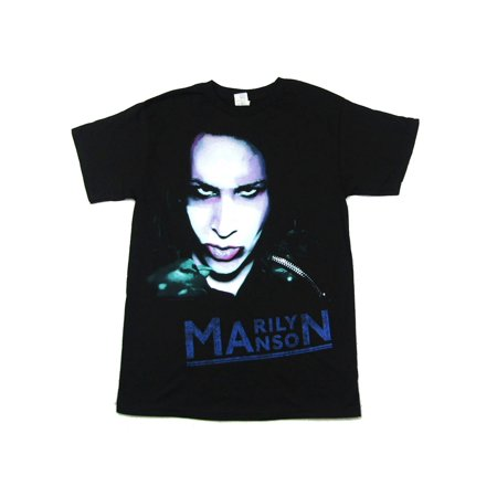 Marilyn Manson Oversaturated Zipper Black T Shirt - Halloween Marilyn Manson Official