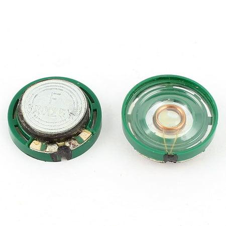 2 Pieces 0.25W 8Ohm 21x7mm Magnetic Electronic Speaker Loudspeaker (Loudspeaker Replacement)