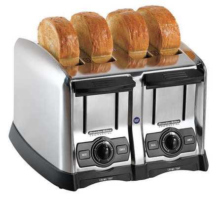 PROCTOR SILEX 24850 Toaster,Brushed Chrome,4 Slice