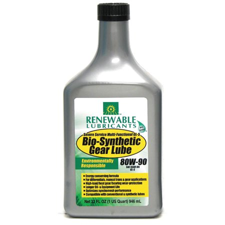 Renewable Lubricants Gear Oil  Bio Synthetic  1 Qt   80W90 82131
