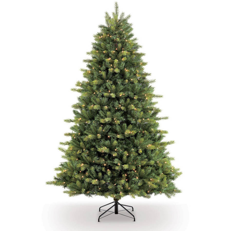 Puleo International 7.5' Pre-Lit Balsam Fir Artificial Christmas ...