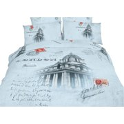 Dolce Mela King Size Duvet Cover Sheets Set - London