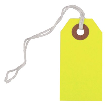 JAM Gift Tags with String, Neon Yellow, 10/Pack, Tiny, 2 3/4 x 1 3/8 Even with their tiny size, the JAM Paper Gift Tags with String can make a big impact. You only need to set your imagination and creativity free.