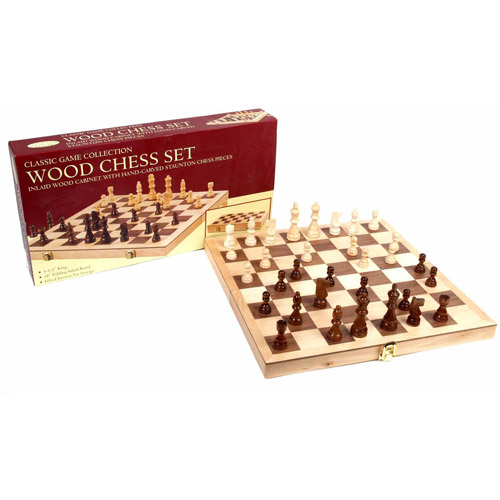 "18"" Deluxe Folding Chess Set by John N. Hansen Co."