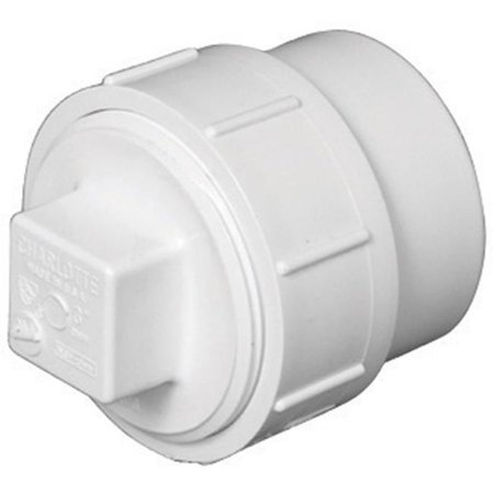 Charlotte Pipe & Foundry PVC00105X0600HA Cleanout Body Adapter  1.5 in.