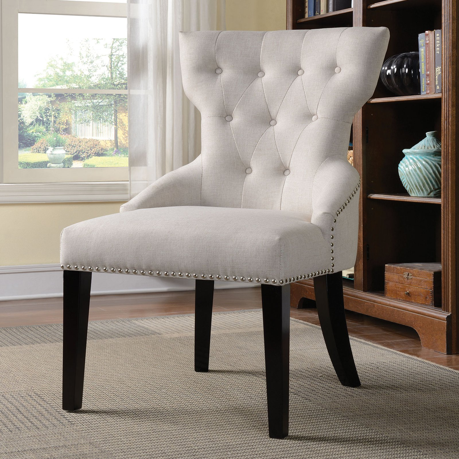 Coaster Company Traditional Accent Chair, Cream   Walmart.com