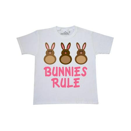 Chocolate Bunny T-shirt - Easter Rabbit Chocolate Bunnies Rule Youth T-Shirt