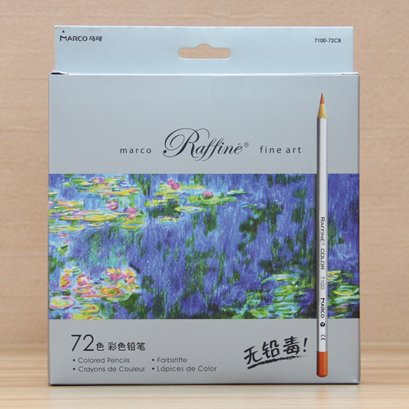 Professional Fine Art Drawing 24 Assorted 3.3mm Wooden Colour Pencils with Paper Box
