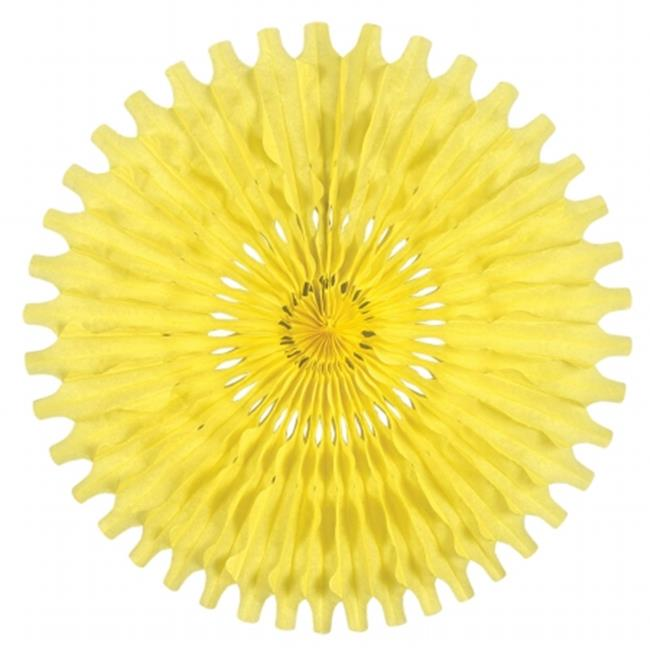 Beistle Company 55293-CN Tissue Fan - Canary