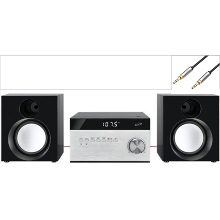 Ilive Desktop Hi Fi Home Audio Cd Player Amp Digital Am Fm