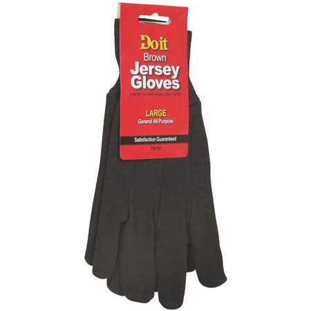 Large Brn Jersey Glove Do It Best Gloves 708764 (Best Structural Firefighting Gloves)