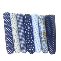 7PCS/Set Mixed Printing 25 * 25cm Floral Fabrics for Patchwork Sewing Materials Quilting Scrapbooking Cotton Cloth