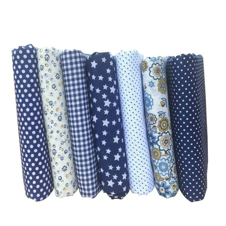 7PCS/Set Mixed Printing 25 * 25cm Floral Fabrics for Patchwork Sewing Materials Quilting Scrapbooking Cotton