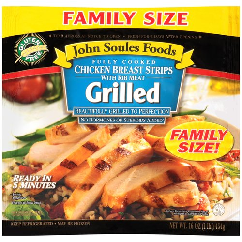 John Soules Foods Grilled Chicken Breast Strips, 16