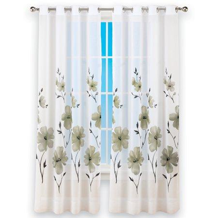 Window Curtain Pair 84 Panels (United Curtain Co. Monet Semi-Sheer Window, 50