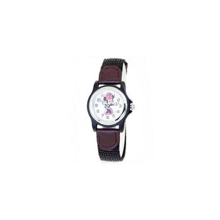 Disney Minnie Mouse Dial Textile Leather Polycarbonate Ladies Watch MCK624