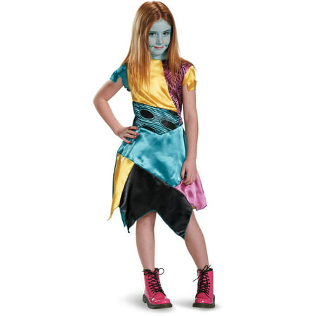 Disney nightmare before christmas classic sally child halloween costume Child Girls (4-6x) - Diy Sally Halloween Costume