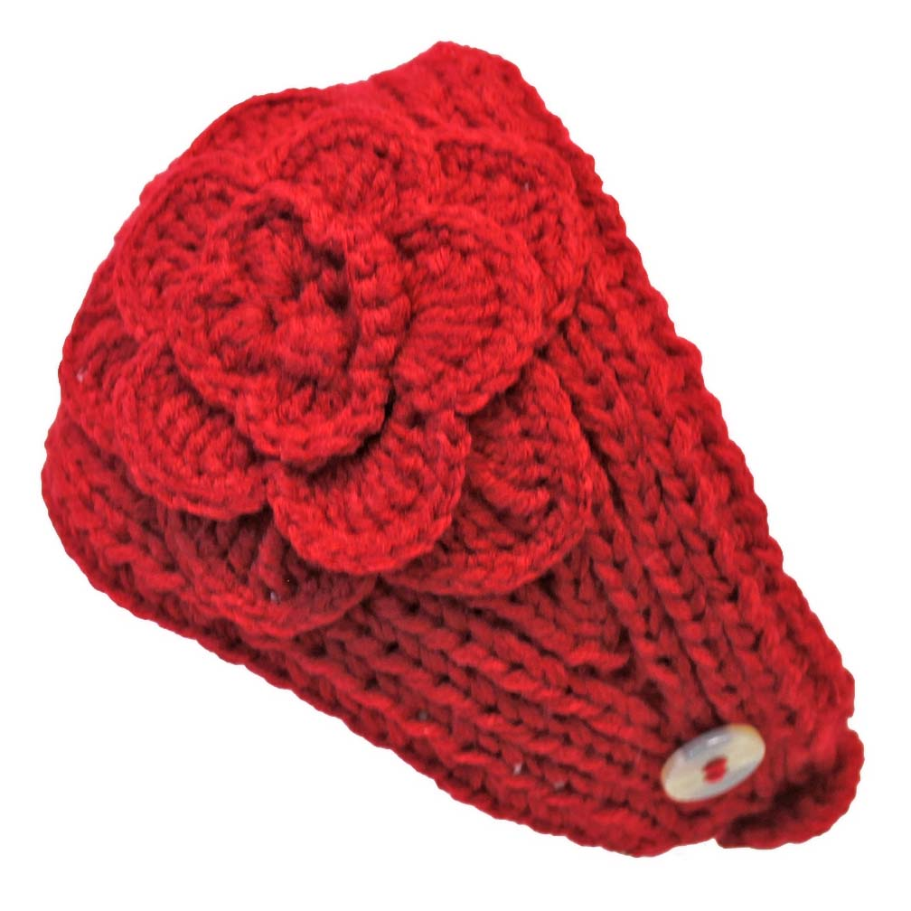 Luxury Divas Hand Knit Crochet Wide Headband