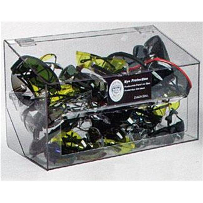 RackEm Racks 5146 70-Pair Safety Glasses Dispenser with Lid - Clear Plastic