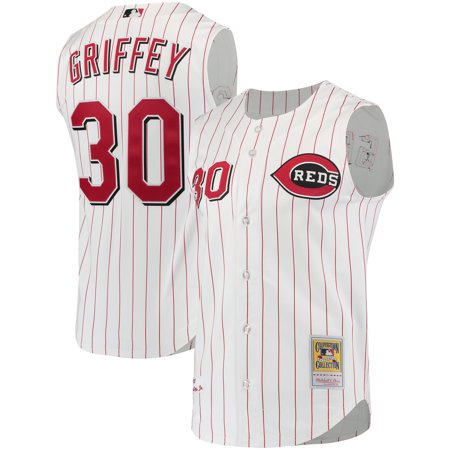 wholesale dealer 02bf1 ddb34 Ken Griffey Jr. Cincinnati Reds Mitchell & Ness Authentic ...