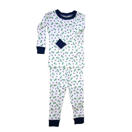 New Jammies Little Boys Blue Anchors Aweigh Cotton 2 Pc Sleepwear Set 2T-7](Anchor Pajamas)