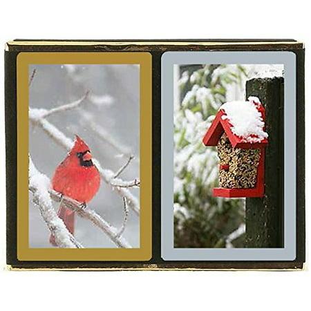 - Congress Red Cardinal Standard Index Bridge Playing Cards - 2 Deck Set
