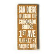 Artehouse LLC San Diego Transit by Cory Steffen Textual Art Plaque