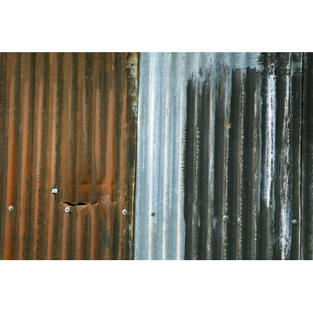 LAMINATED POSTER Texture Rust Sheet Rusty Corrugated Metal Colors ...