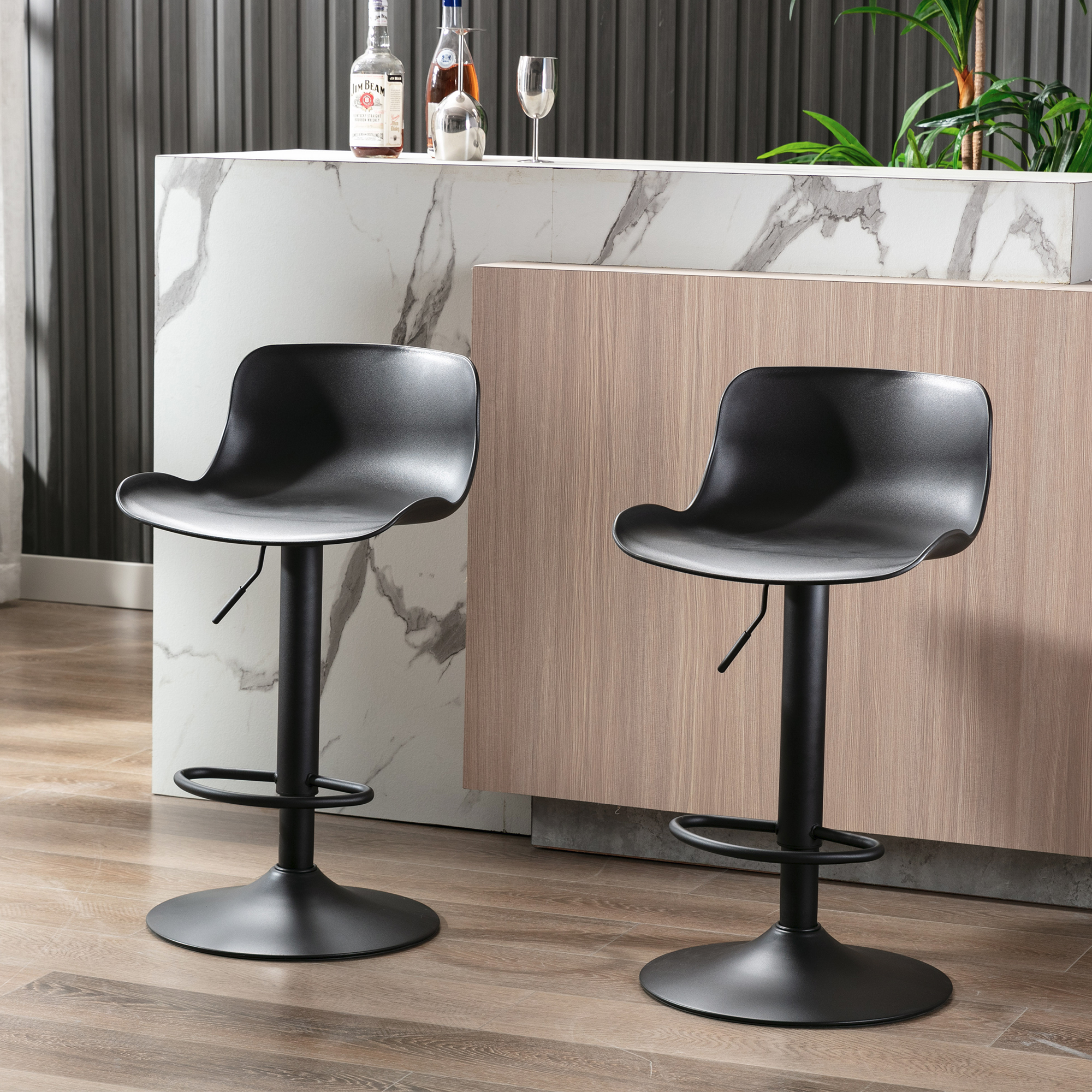 Swivel Bar Stools Set, Industrial Metal Counter Height Barstools Set,  Contemporary Dining Room Bar Stools Chair Set, Kitchen/Dining Room Swivel  Bar ...