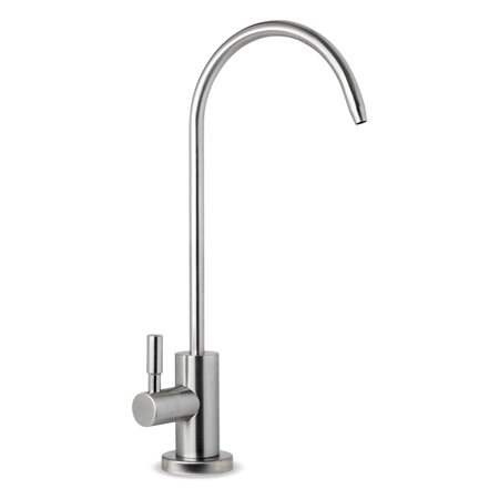 iSpring GA1-SS Stainless Steel Kitchen Bar Sink Reverse Osmosis RO Filtration Drinking Water Faucet, Lead-Free in Brushed Nickel Finish ()