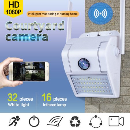 1080P HD Wi-Fi Outdoor Home Monitoring IP Camera Wireless Waterproof Night Vision - Two Way Audio Home Security Network Camera , with 32G TF Card Home Network Monitoring