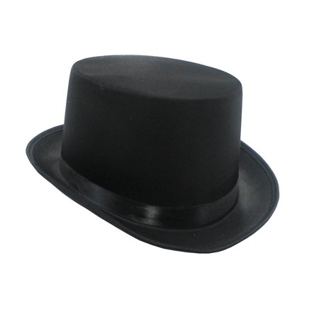 High Quality Tuxedo Formal Victorian Black Satin Silk Top Hat Costume -
