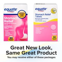 (3 pack) Equate Stomach Relief Chewable Tablets, 262 mg, 30 Count