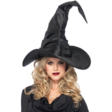 Leg Avenue Women's Large Ruched Witch Hat, Black, One Size (Womens Witch Hat)