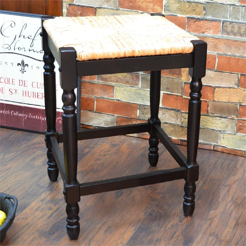 "Carolina Classics Frederick 24"" Counter Stool in Black"