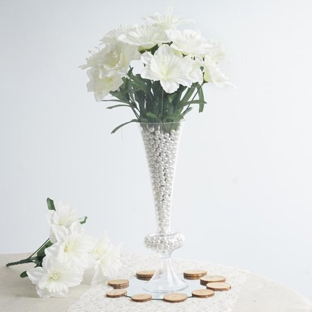 72 Artificial Ivory Silk Daffodil Flowers