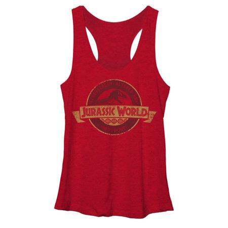 - Jurassic World Women's Genetically Altered Logo Racerback Tank Top