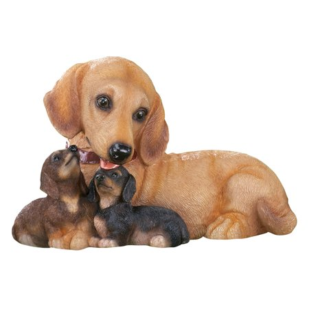 (Collections Etc. Dachshund Dog Family Mama & Puppies Outdoor Garden Statue)