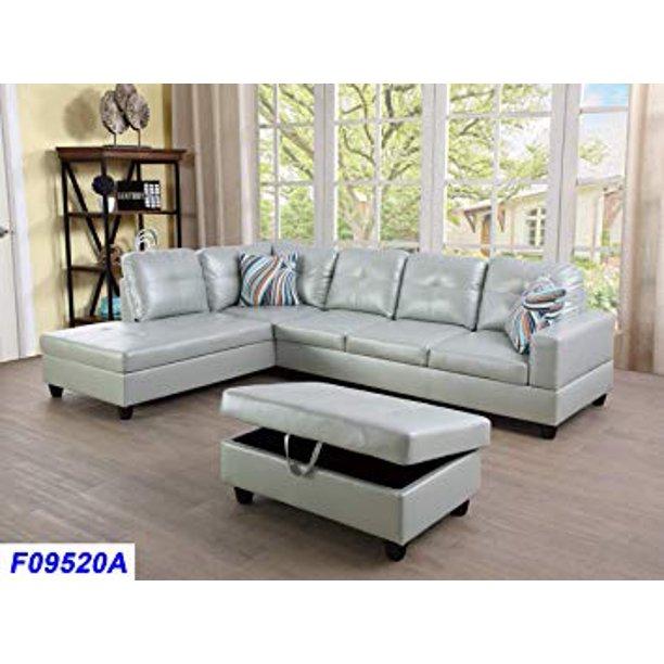 Facing 3pc Sectional Sofa Set