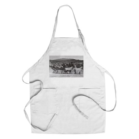 Jacksonville, Oregon - A Bandwagon View (Cotton/Polyester Chef's Apron)