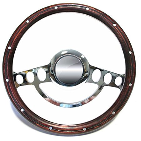 1969 - 84 Chevy Monte Carlo, Nova Chrome & Genuine Wood Steering Wheel Full
