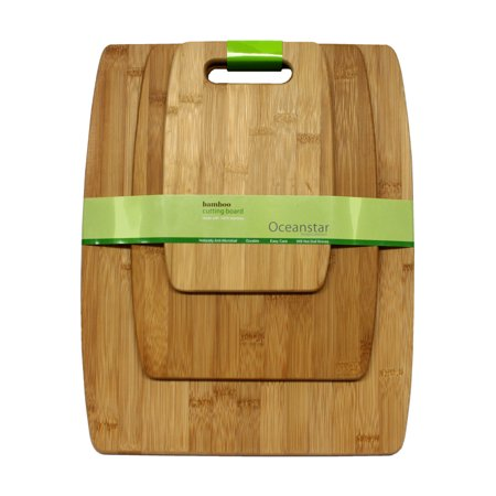Bamboo Natural Cutting Board (Oceanstar 3-Piece Bamboo Cutting Board Set CB1156 )