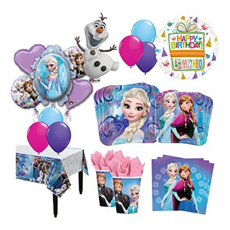 The Ultimate 8 Guest 54pc Frozen Olaf Anna Elsa Birthday Party Supplies - Frozen Birthday Party Decorations