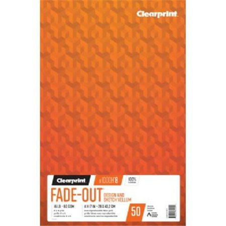 Clearprint Design Vellum Pad, 10x10 Grid, 8.5in x 11in