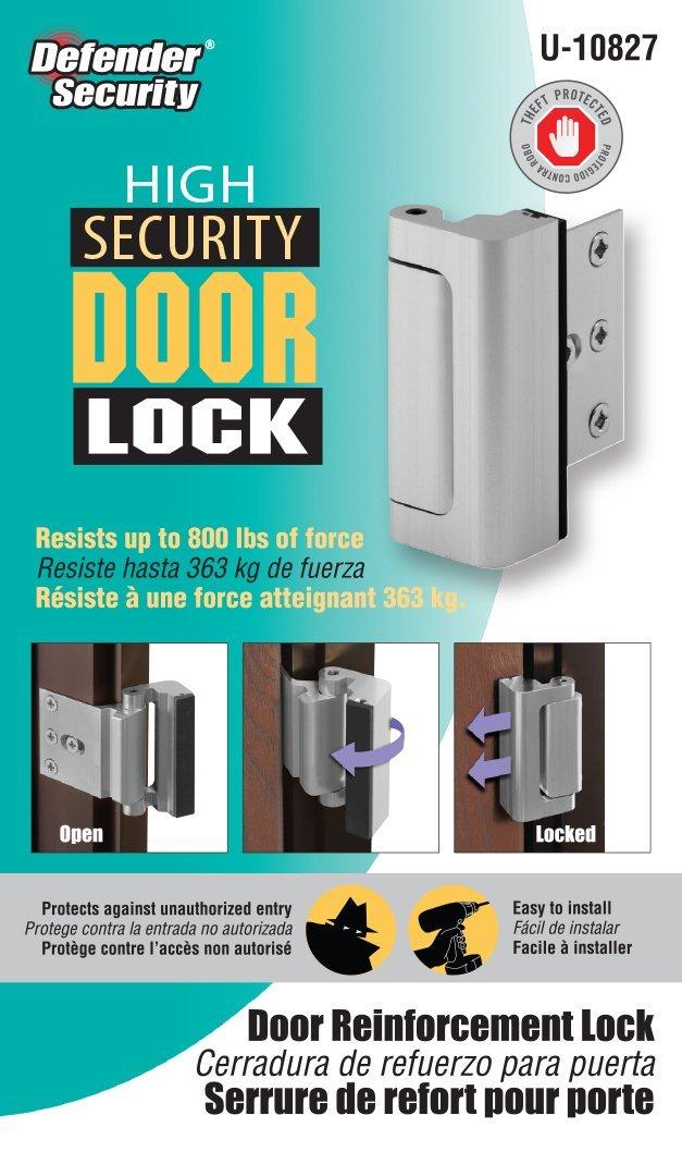 Home Security Defender Lock Keep Family Security U Door Reinforcement Black Lock