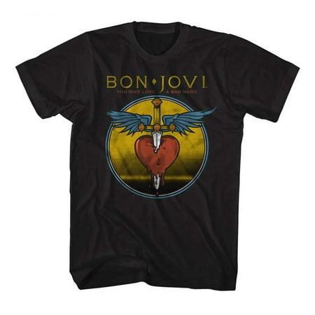 Bon Jovi Bad Name T-Shirt - Black - - Jovie Elf