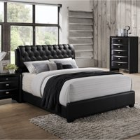 Roundhill Furniture Blemerey Bonded Leather Low Profile Bed