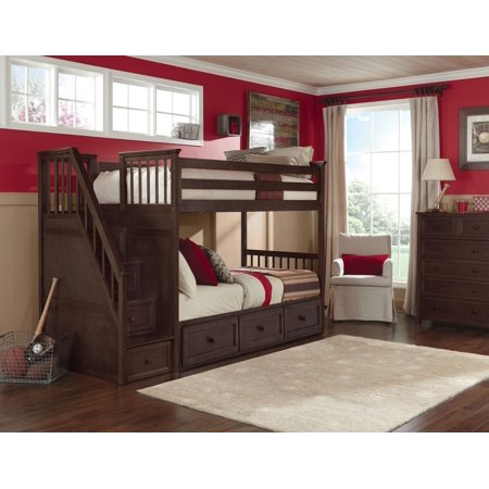 School Stair Bunk Trundle Chocolate