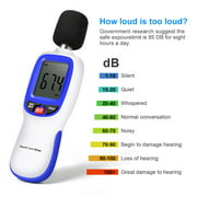 ANGGREK Noise Measuring Instrument, Decibel Monitoring Tester,Ejoyous Sound Level Meter, Portable Digital Decibel Meter Audio Noise Measurement 30-130dBA, MA